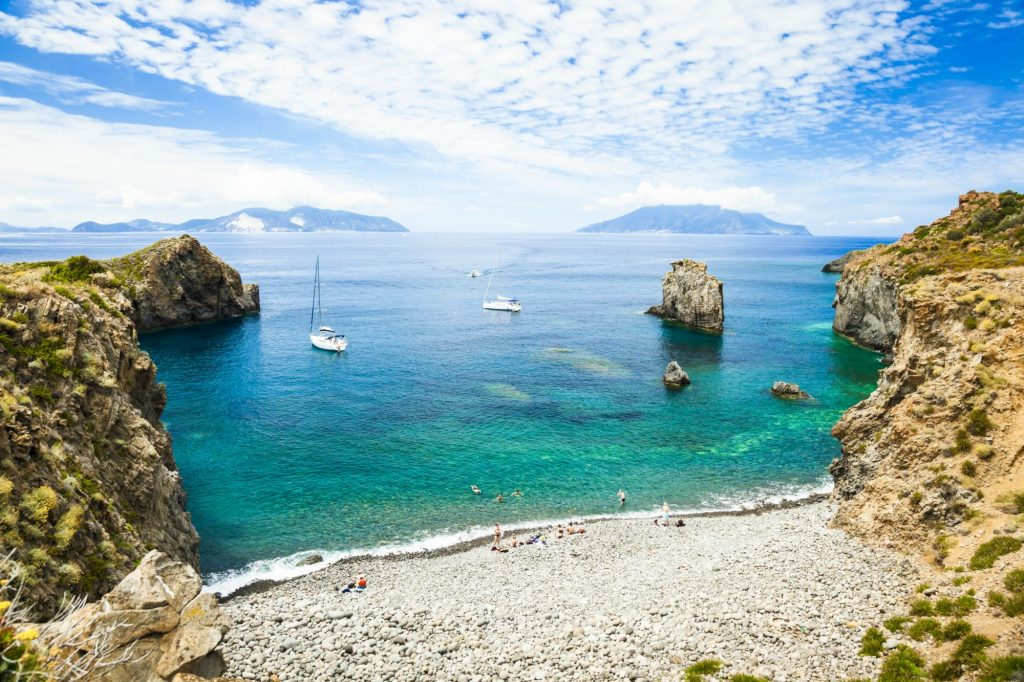 Cala Junco a Panarea, boating holidays