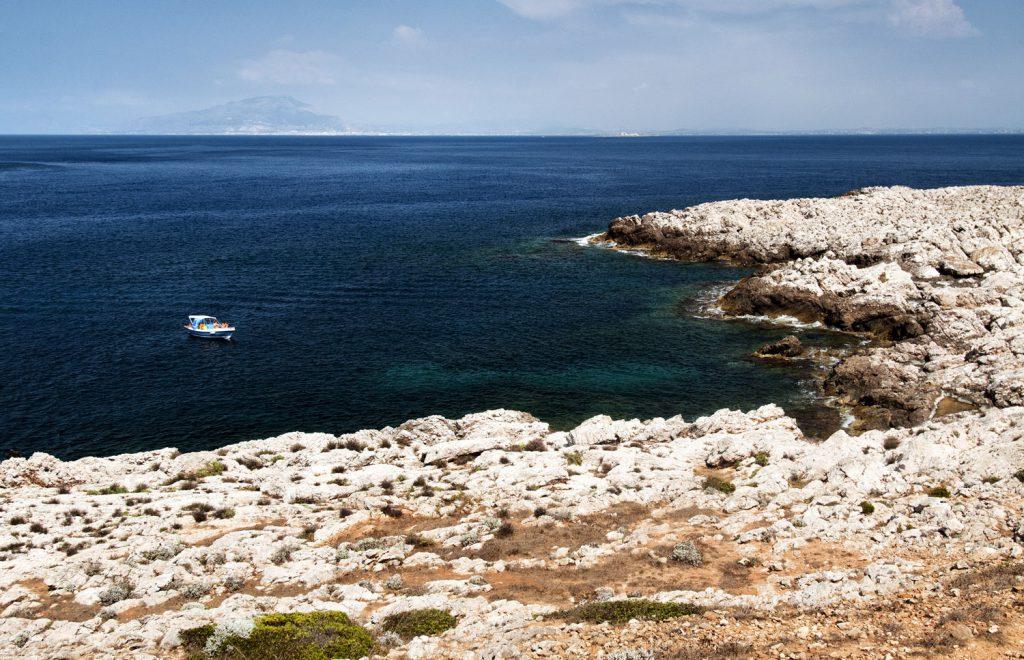 Boating holidays, Cala Calcara Levanzo