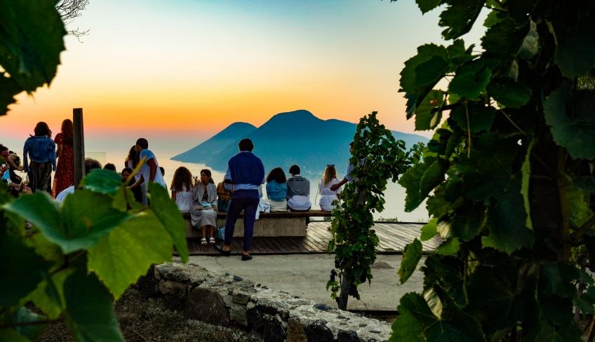 Degustazione al tramonto Lipari