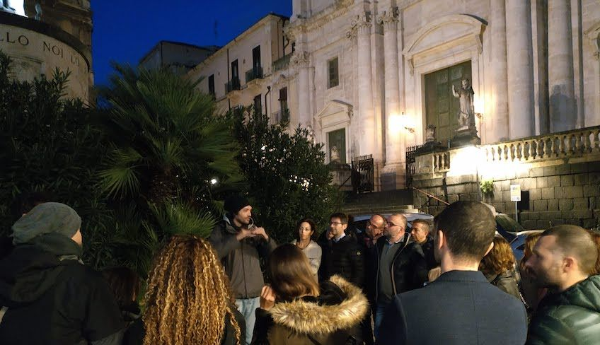 catania walking tour -