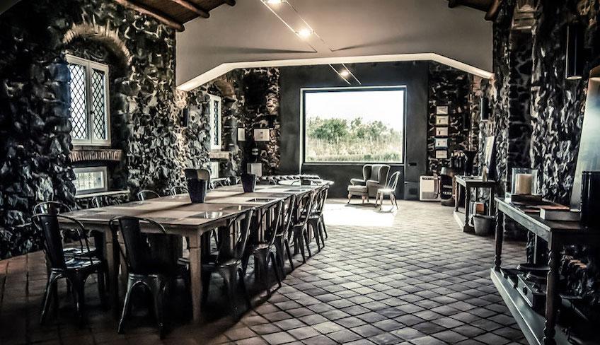 Cellars & Wineyards Holiday in Sicily -Dinner on Etna