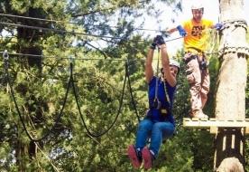 Free climbing location - adventure theme park