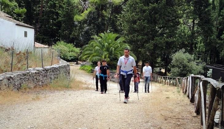 Park in sicily - nordic walking technique