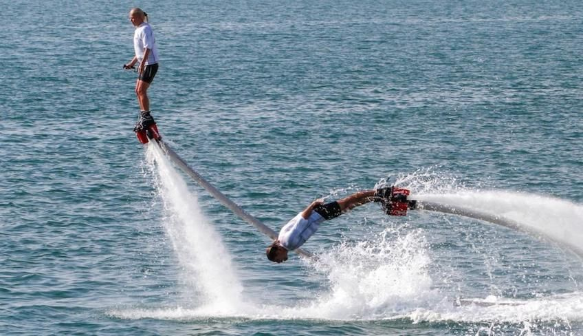 Flyboard in Italy - extreme water sports