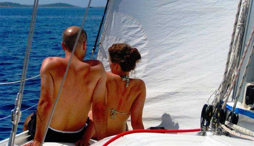 Romantic dinner with one night stay on board a modern yacht at Palermo