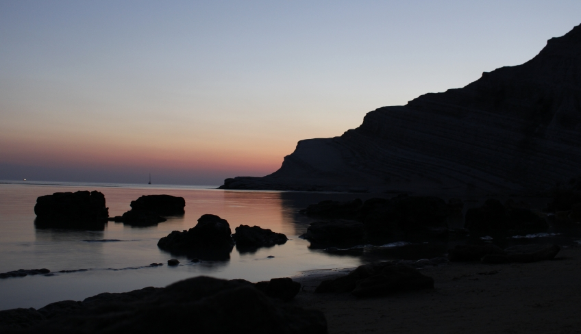 tramonto scala dei turchi