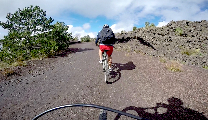 Bike Tour on Mount Etna: shuttle service and guide included