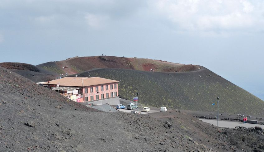 visiting mount etna by car - etna sunset tour